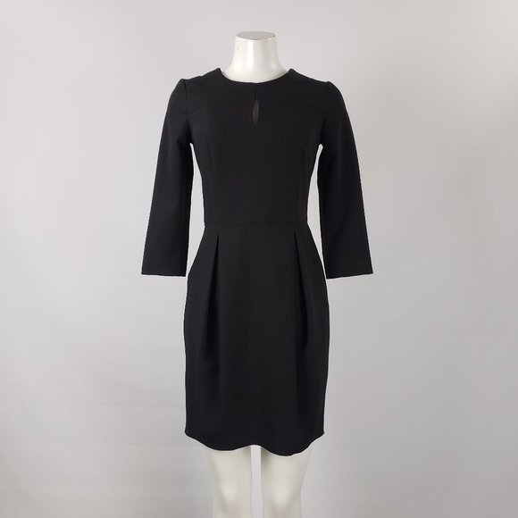 Nife Black Pleated Skirt Dress Size S